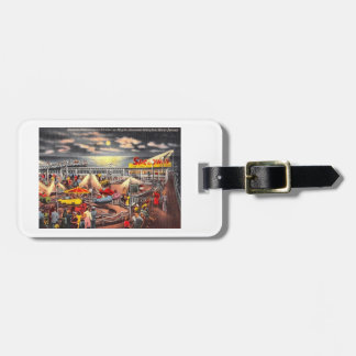 Amusements, Seaside Heights, New Jersey Vintage Luggage Tag