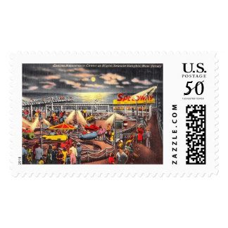 Amusements, Seaside Heights, New Jersey Vintage Postage