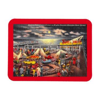 Amusements, Seaside Heights, New Jersey Vintage Rectangular Photo Magnet