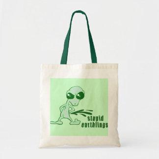 Amusing  Alien Antics Novelty Designs Tote Bag