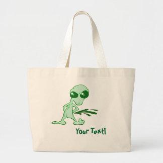 Amusing  Alien Antics Novelty Designs Tote Bags