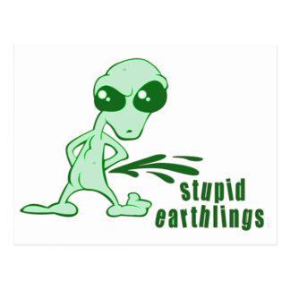 Amusing  Alien Antics Novelty Designs Postcard