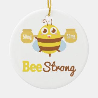 Amusing and Cute Bee Strong Cartoon Ceramic Ornament