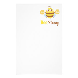 Amusing and Cute Bee Strong Cartoon Stationery