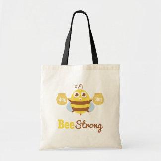 Amusing and Cute Bee Strong Cartoon Tote Bag