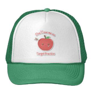 Amusing Apples as Target Practice Hat