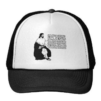Amusing atheist mesh hat