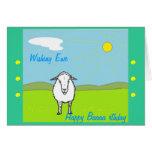 Amusing Birthday card, with sheep. Card