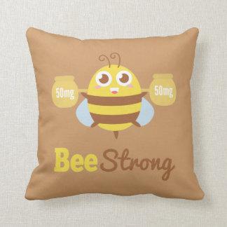 Amusing Cartoon: Cute bee holding pots Pillow