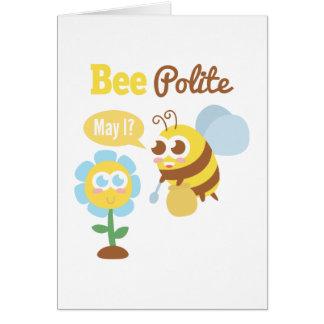 Amusing Cute bee polite cartoon Card
