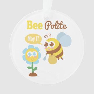Amusing Cute bee polite cartoon Ornament