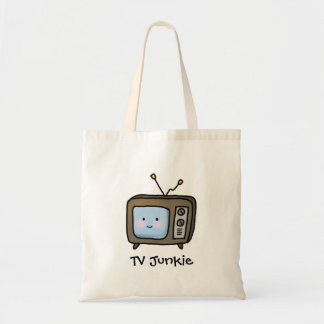 Amusing Cute Retro TV Junkie Doodle Tote Bag