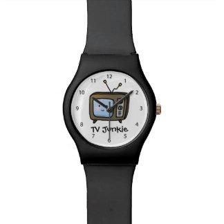 Amusing Cute Retro TV Junkie Doodle Wristwatch