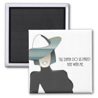 Amusing Divorce Quote Art Deco Lady Magnet