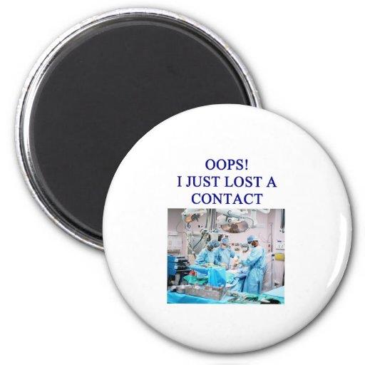 amusing doctor joke 2 inch round magnet