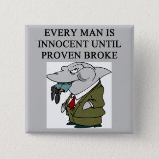 amusing lawyers / attorneys design button
