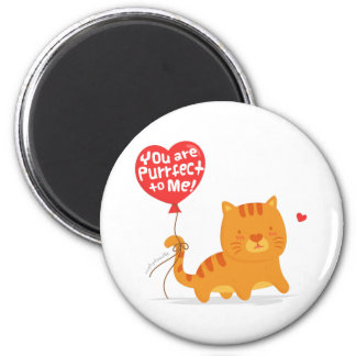 Amusing Pun Love Humor Cute Kitty Cat Cartoon Magnet