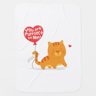 Amusing Pun Love Humor Cute Kitty Cat Cartoon Stroller Blanket