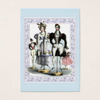 Amusing Vintage French Fashion Family of Dolls Business Card