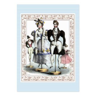 Amusing Vintage French Fashion Family of Dolls Large Business Cards (Pack Of 100)