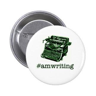 #amwriting 2 inch round button
