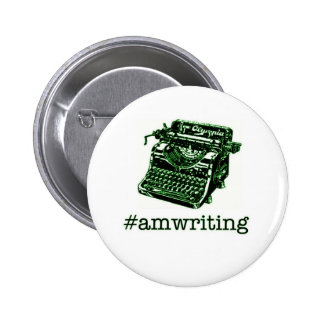 #amwriting pinback button