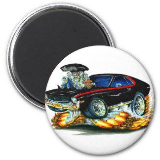 AMX Black-Red Car 2 Inch Round Magnet