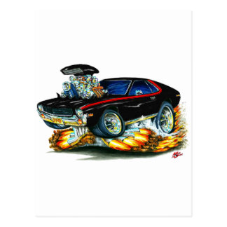 AMX Black-Red Car Postcard