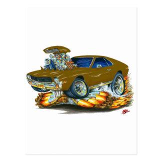 AMX Brown Car Postcard