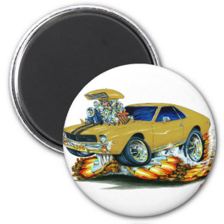 AMX Gold Car 2 Inch Round Magnet