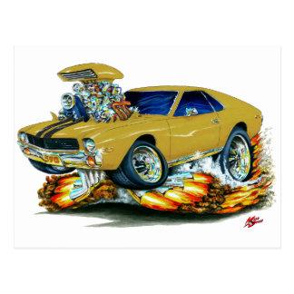 AMX Gold Car Postcard