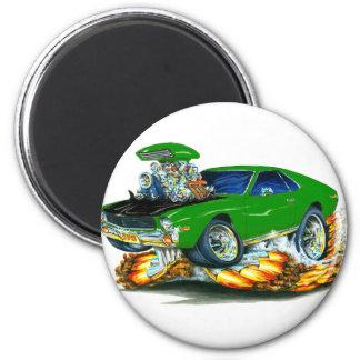 AMX Green-Black Car 2 Inch Round Magnet
