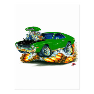 AMX Green-Black Car Postcard