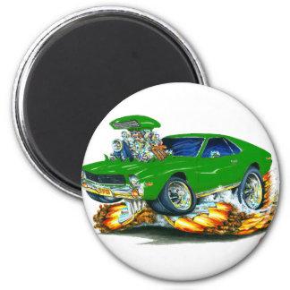 AMX Green Car 2 Inch Round Magnet