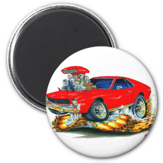 AMX Red Car 2 Inch Round Magnet