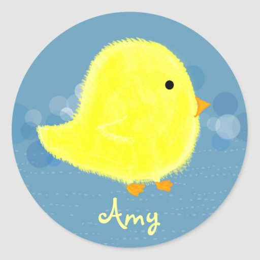 Amy Baby Chick Sticker 369MyName