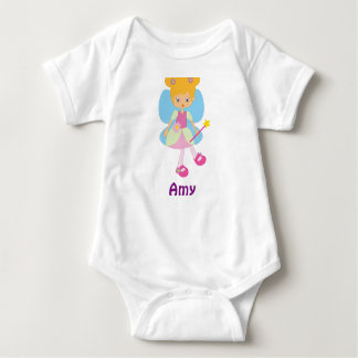 AMY baby girl gifts personalised Baby Bodysuit