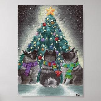 """Amy Bolin de Elkhounds del noruego del """"navidad ju Impresiones"""