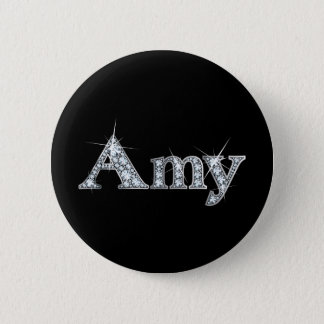 "Amy ""Diamond Bling"" Pinback Button"