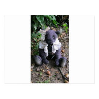 "Amy Goodrich Collectables ""purple girl bear"" image Postcard"