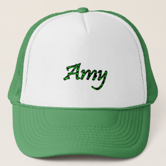 Amy Green and White mesh cap