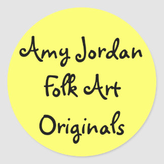 Amy Jordan Folk Art Originals - sticker