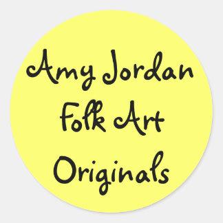 Amy Jordan Folk Art Originals - sticker