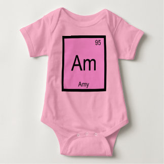 Amy Name Chemistry Element Periodic Table Baby Bodysuit
