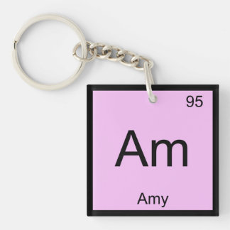 Amy Name Chemistry Element Periodic Table Keychain