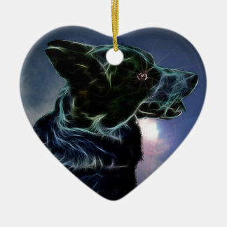 Amy Double-Sided Heart Ceramic Christmas Ornament