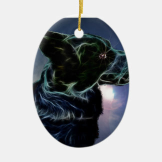 Amy Double-Sided Oval Ceramic Christmas Ornament