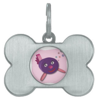 Amy small the fish pet tag