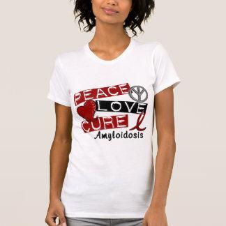 Amyloidosis de la curación del amor de la paz tee shirts