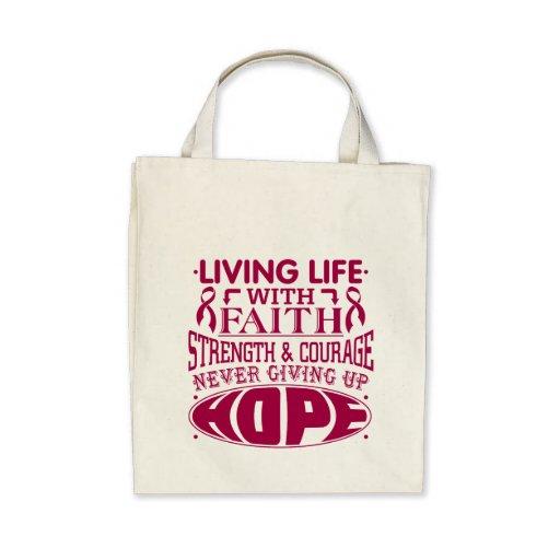 Amyloidosis Living Life with Faith Tote Bags